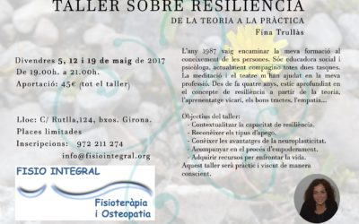 Vine al Taller sobre la resiliència: de la teoria a la pràctica – 5, 12 i 19 de maig